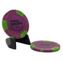 BTHD Poker Chip (Purple/Green/Yellow)