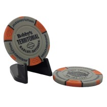 BTHD Poker Chip (Gray/Orange/Black)