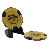 BTHD Poker Chip (Yellow/Black/White)