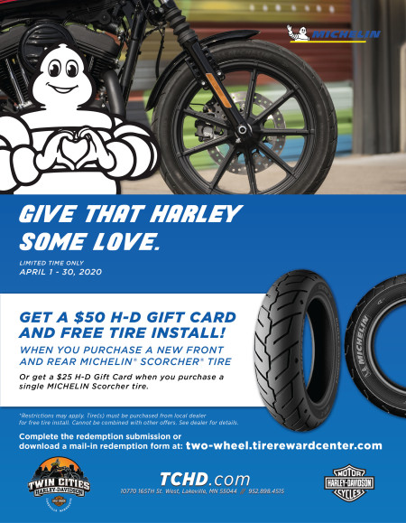 Get a $50 Gift Card with Michelin tires!