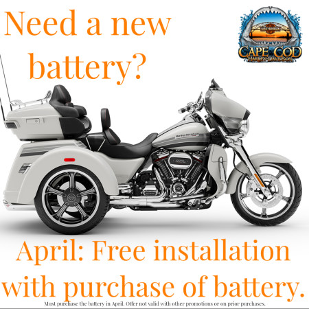 Free battery installation with battery purchase