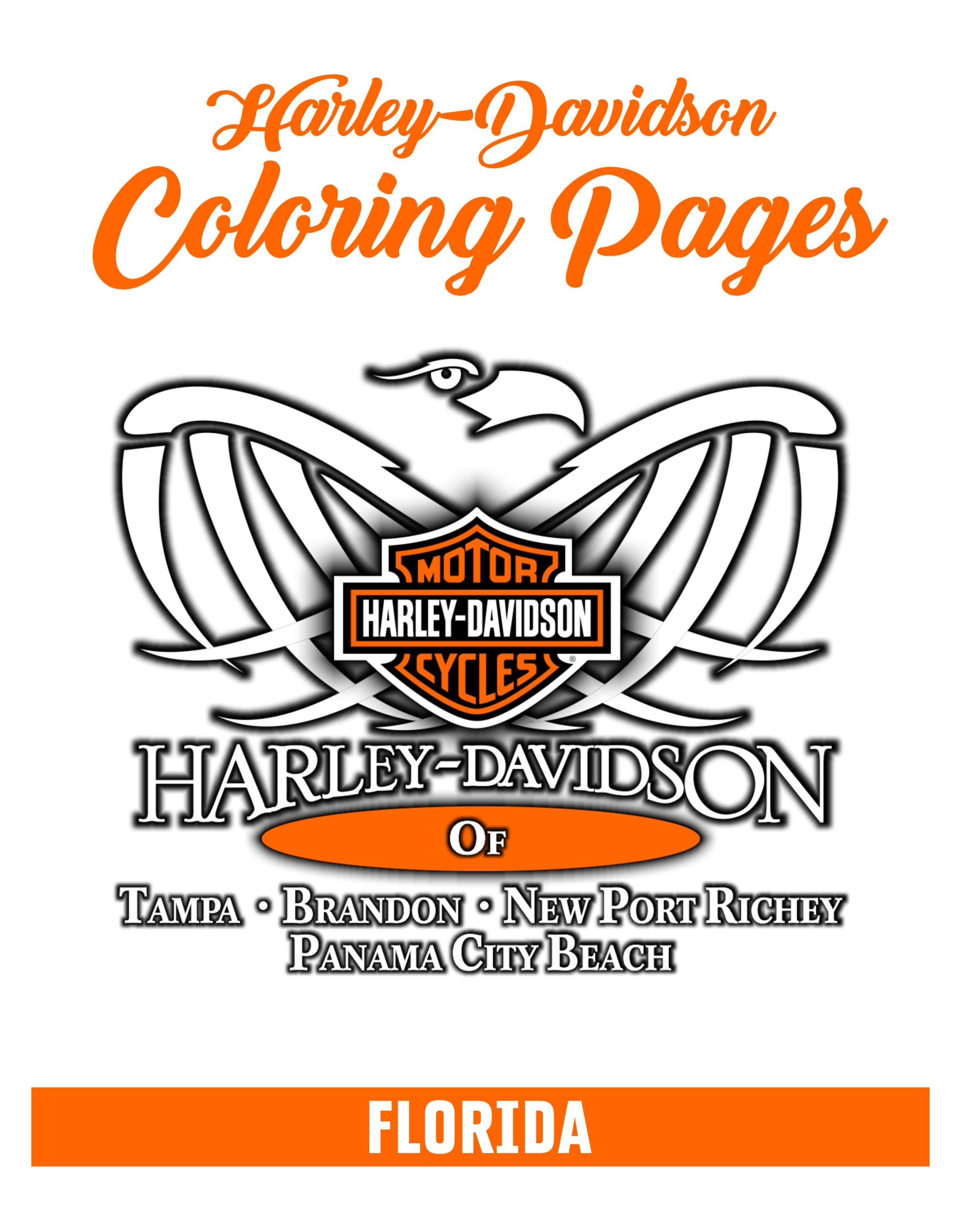- Harley Coloring Pages For Kids H-D Florida Group