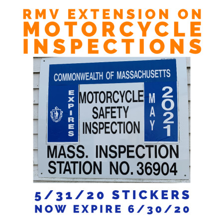 Massachusetts RMV extends expiration for motorcycle inspection stickers