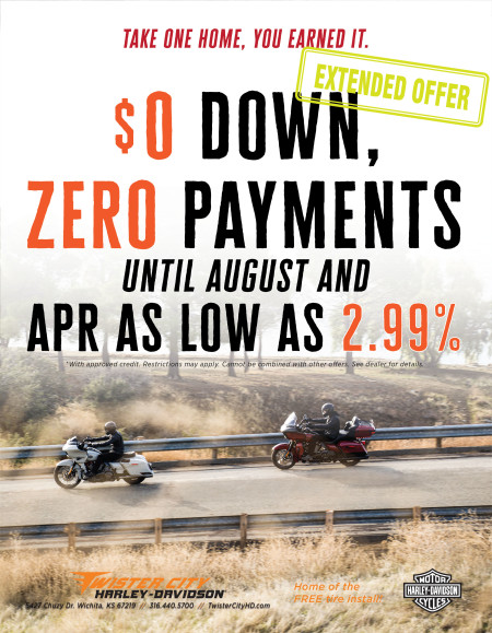 $0 Down, Zero Payments until August, and APR as low as 2.99%