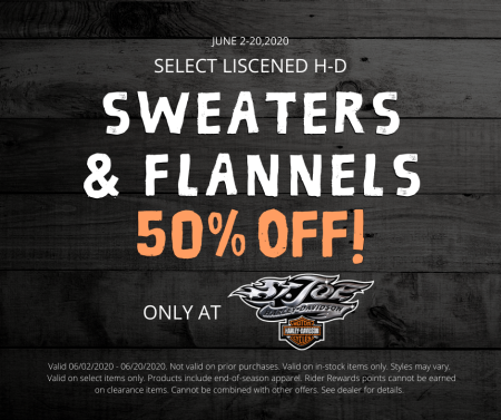 Sweater & Flannel 50% OFF!