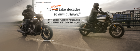 """It won't take decades to own a Harley"""