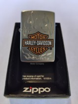 ZIPPO H-D LOGO ORANGE SATIN CHROME