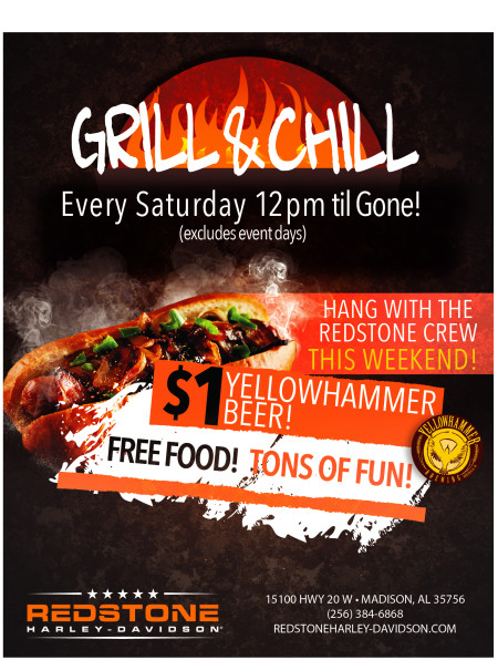 Grill n Chill  Every Saturday