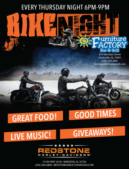 BIKE NIGHT at Furniture Factory  Every Thursday Night