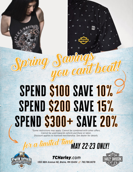 SPRING SAVINGS YOU CAN'T BEAT!
