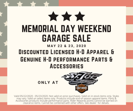 Memorial Day Weekend Garage Sale