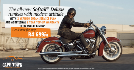 The all-new Softail® Deluxe rumbles with modern attitude