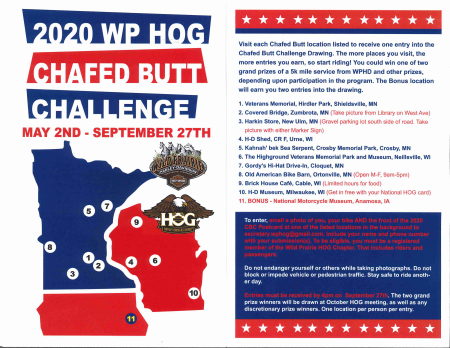 WPHD HOG Chapter Chafed Butt Challenge