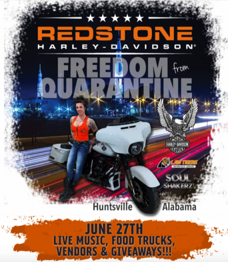 FREEDOM from QUARANTINE LIVE BAND, FOOD TRUCKS & GIVEAWAYS June 27th  12pm-5pm