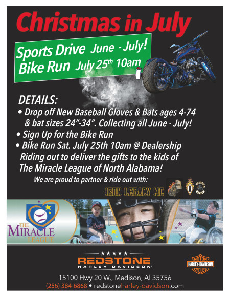 Christmas in July Bike Run July 25th