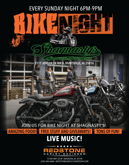 BIKE NIGHTS at Shagnasty's  Every Sunday Night