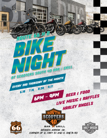 Route 66 H-D August Bike Night @ Scooters South 40