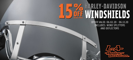 15% Off H-D Windshields