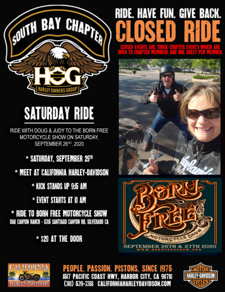 South Bay HOG - Born Free Motorcycle Show with the Setmeyers 9/26/2020
