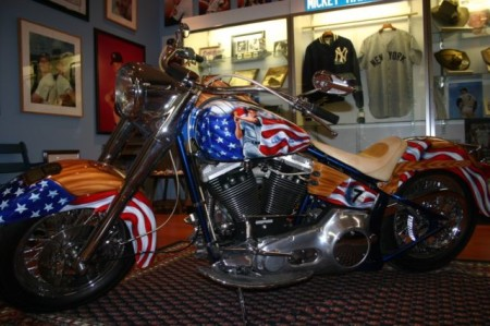 This Custom Softail is a Tribute to Mickey Mantle