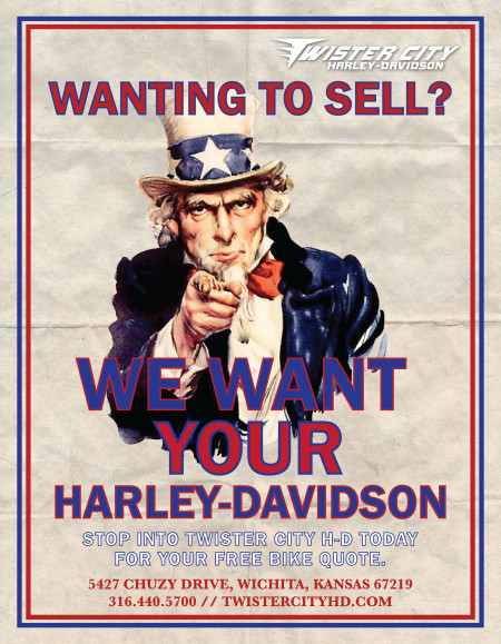 WE WANT YOUR HARLEY