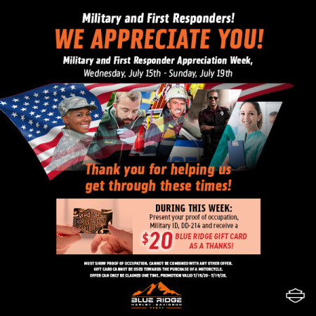 Military and First Responder Appreciation Week!