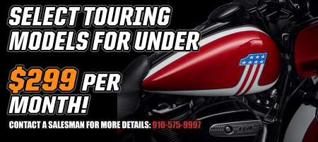 SELECT TOURING MODELS UNDER $299 PER MONTH!