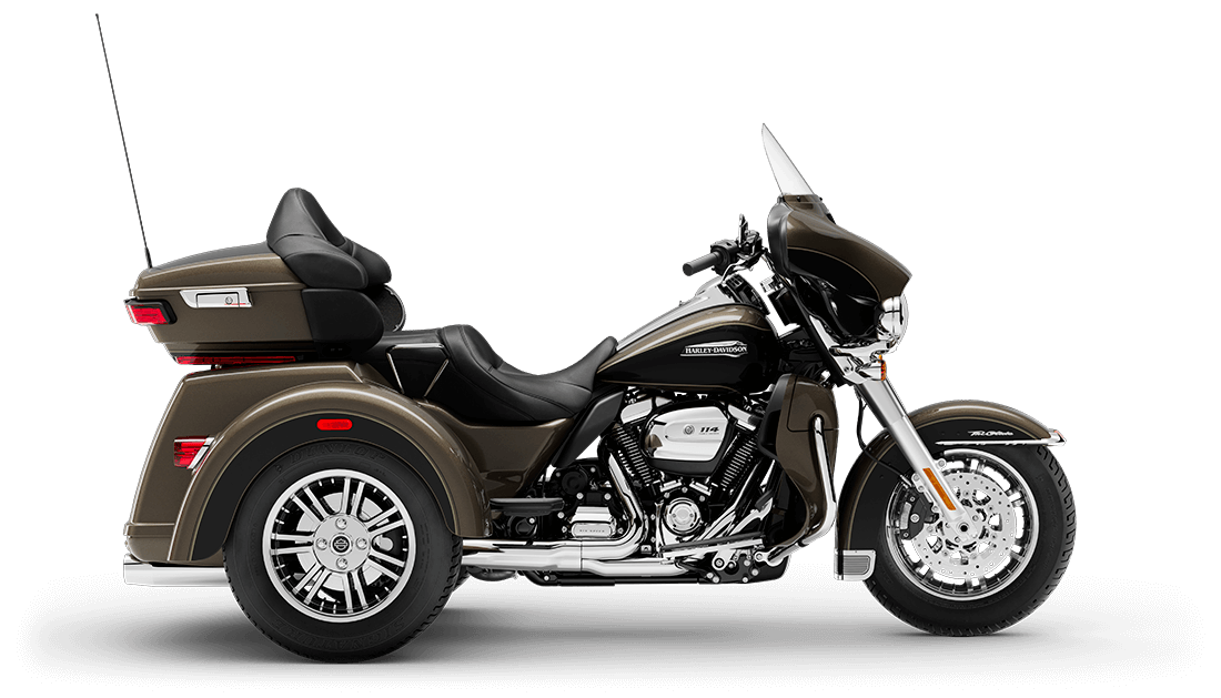 Harley-Davidson<sup>®</sup> Tri Glide<sup>®</sup> Ultra 2020 FLHTCUTG T72-20 RVR RCK GRY/BLK W/PINST