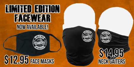 Face masks and Neck Gaiters now available!