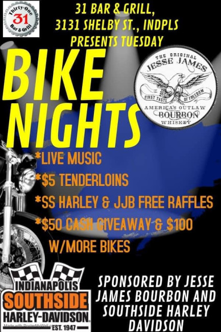 31 Bar & Grill Tuesday Bike Nights