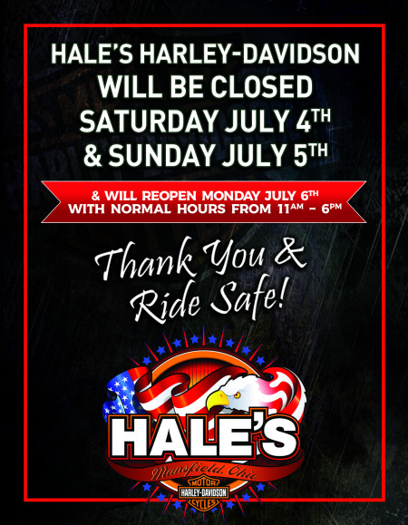 Closed July 4th & 5th