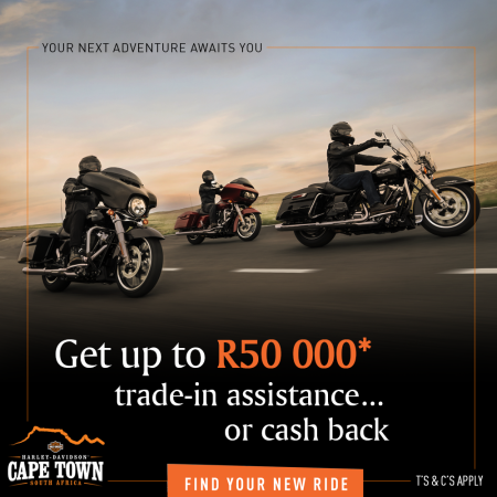 Get up to R50 000* Trade-In Assistance or Cash Back
