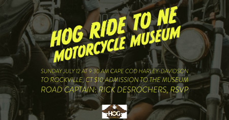 Cape Cod HOG Ride to New England Motorcycle Museum