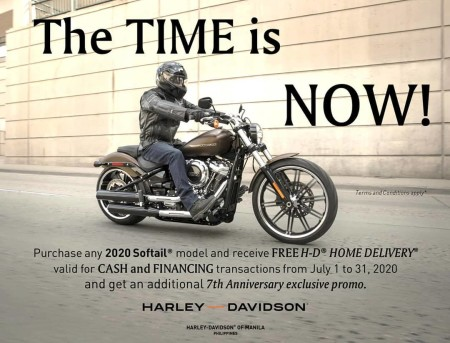 FREE H-D® HOME DELIVERY,  The TIME is NOW!