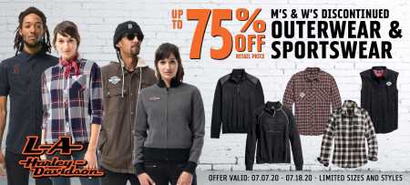 Up to 75% off Discontinued Sportswear & Outerwear