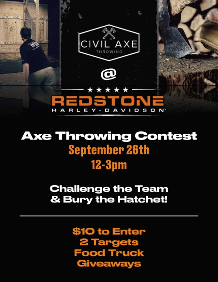 Axe Throwing Contest!