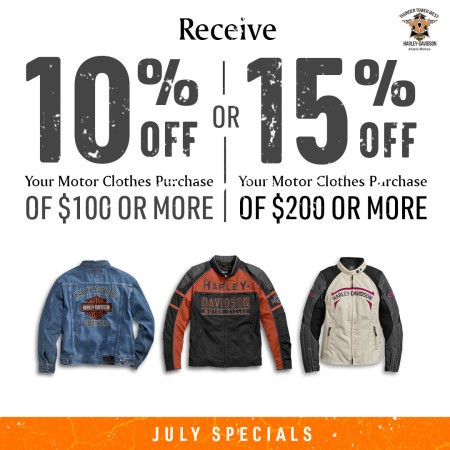 July Clothing Specials!