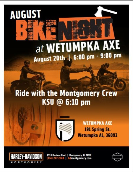 Bike Night at Wetumpka Axe