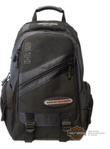 Harley-Davidson® Mens On The Road Megapack Black Poly Blend Backpack