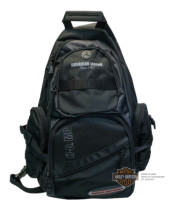 Harley-Davidson® Mens On The Road Journey Sling Black Poly Blend Backpack
