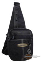 Halfpack,Black with Taupe