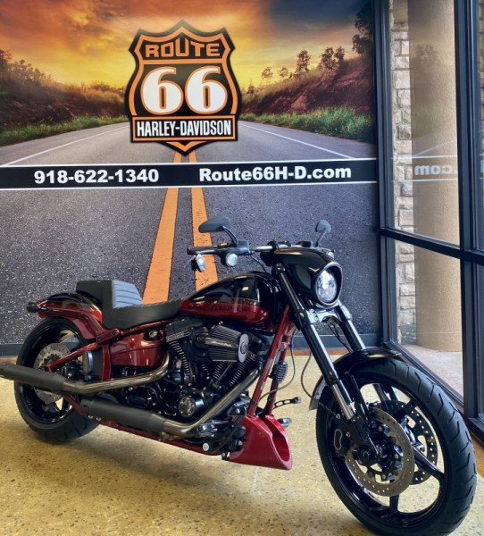 Starfire Black/Scorched Apple 2017 Harley-Davidson® CVO™ Pro Street Breakout® FXSE