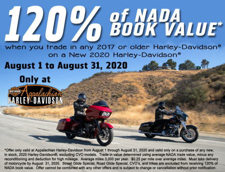120% of NADA Book Value