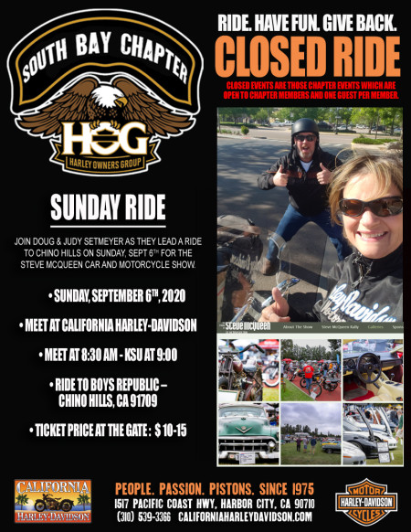 South Bay HOG - Steve McQueen Car and Motorcyle Show with the Setmeyers