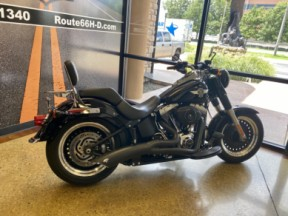 Vivid Black 2012 Harley-Davidson® Fat Boy® Lo thumb 1