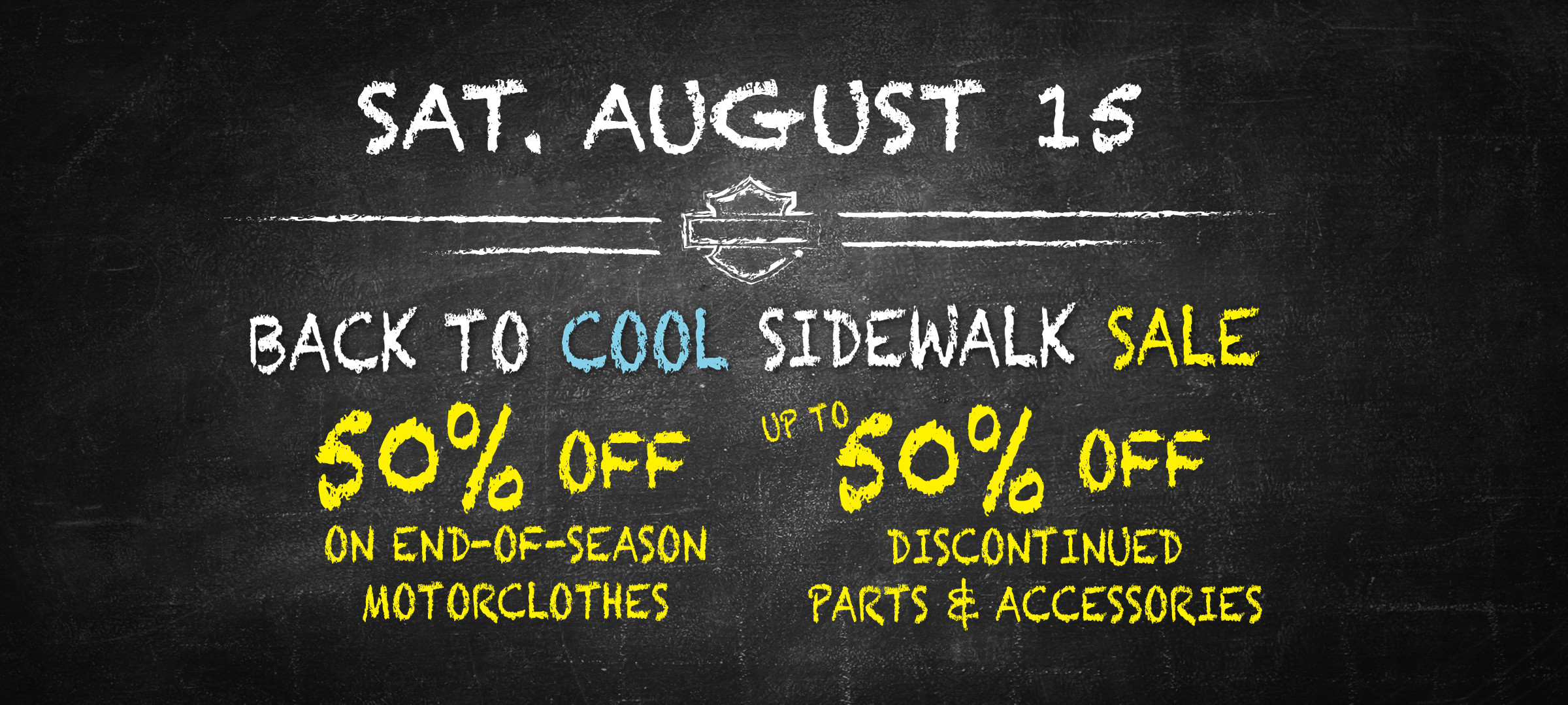 get back to cool sidewalk sale