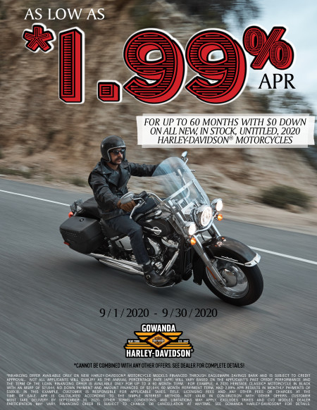 Low APR on Qualifying New Harley-Davidson® Motorcycles