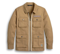 JACKET-WOVEN,BROWN