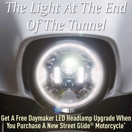 Free Daymaker Headlamp When You Purchase A New Street Glide
