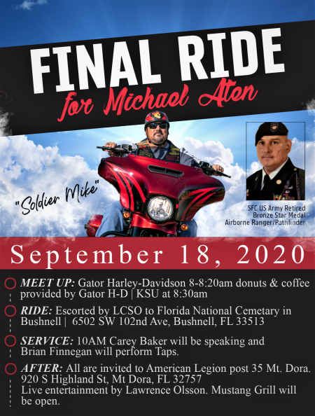 Final Ride for Michael Aten